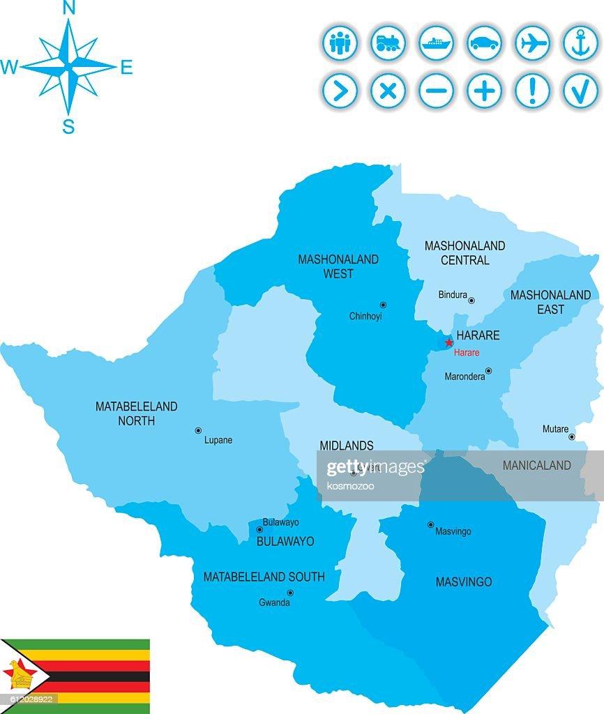 Zimbabwe : stock illustration