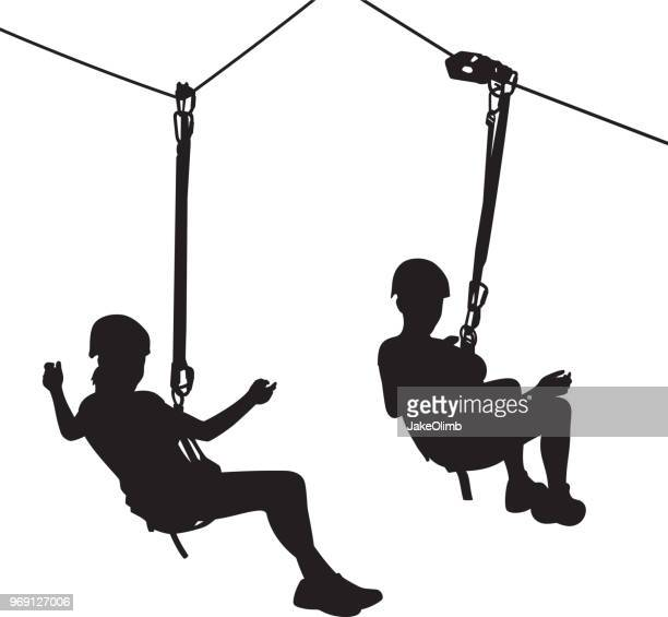 51 Zip Line High Res Illustrations Getty Images