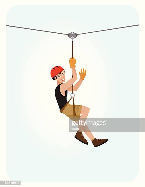 Zip Line Stock Illustrations And Cartoons Getty Images