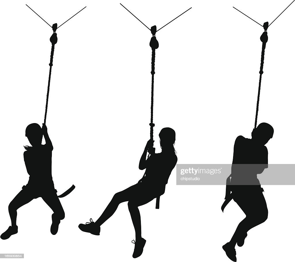 Line Art Zip : Zip line vector art getty images