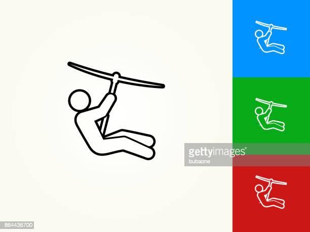 ilustrações, clipart, desenhos animados e ícones de forro linear ícone preto curso de fecho de correr - esportes extremos