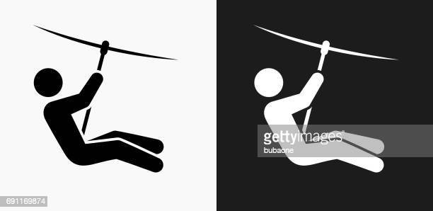 Zip Lining Icon On Black And White Vector Backgrounds Vector Id S X on Zip Clip Art