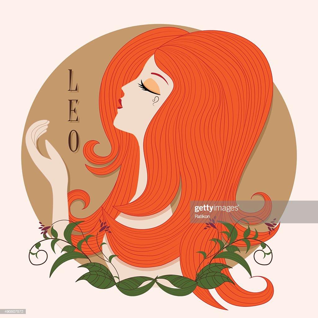 Zodiac girl Leo