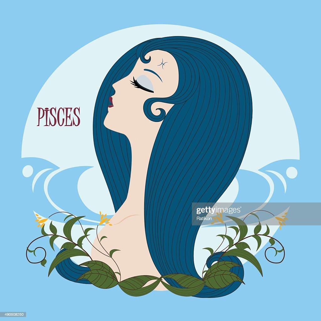 Zodiac girl Pisces