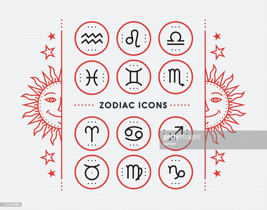 Zodiac icon collection. Vector collection.
