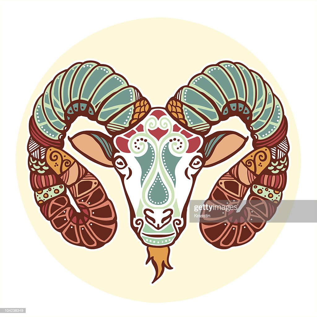 Zodiac signs - Aries (colored)