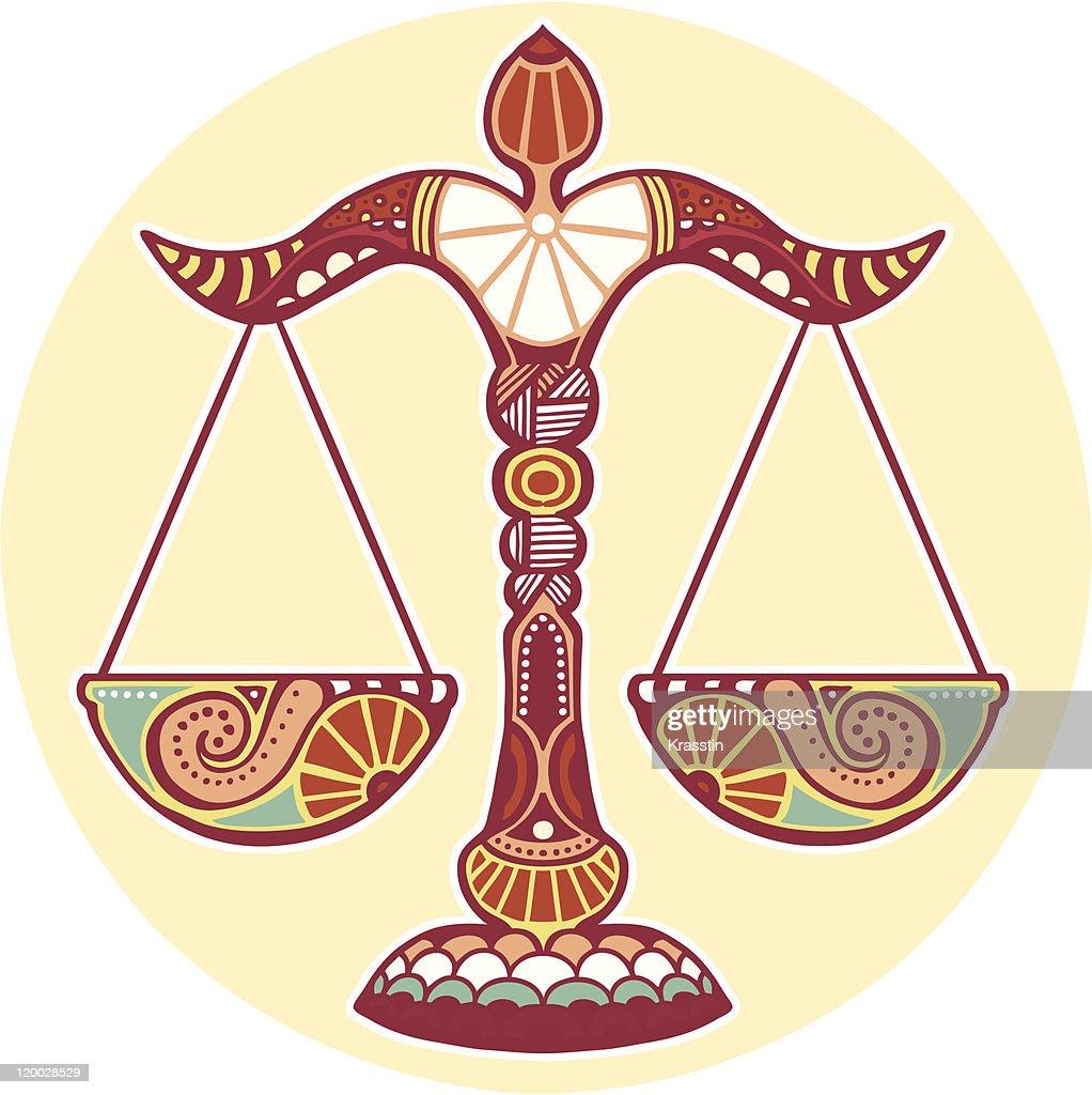 Zodiac signs - Libra (colored)
