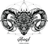 Zodiacal Aries Ink