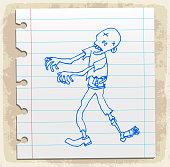 zombi halloween symbol cartoon illustration