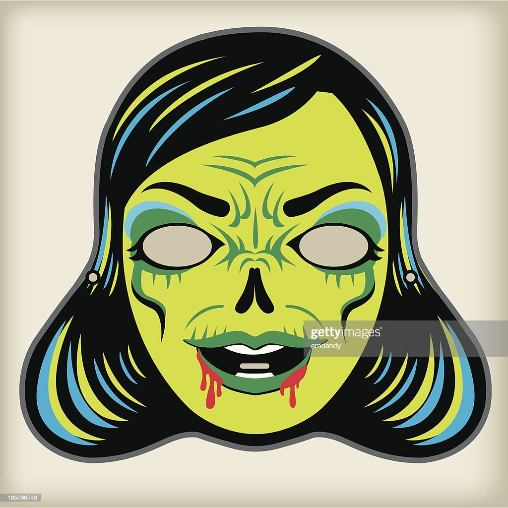 Zombi lady - Vintage Mask Series