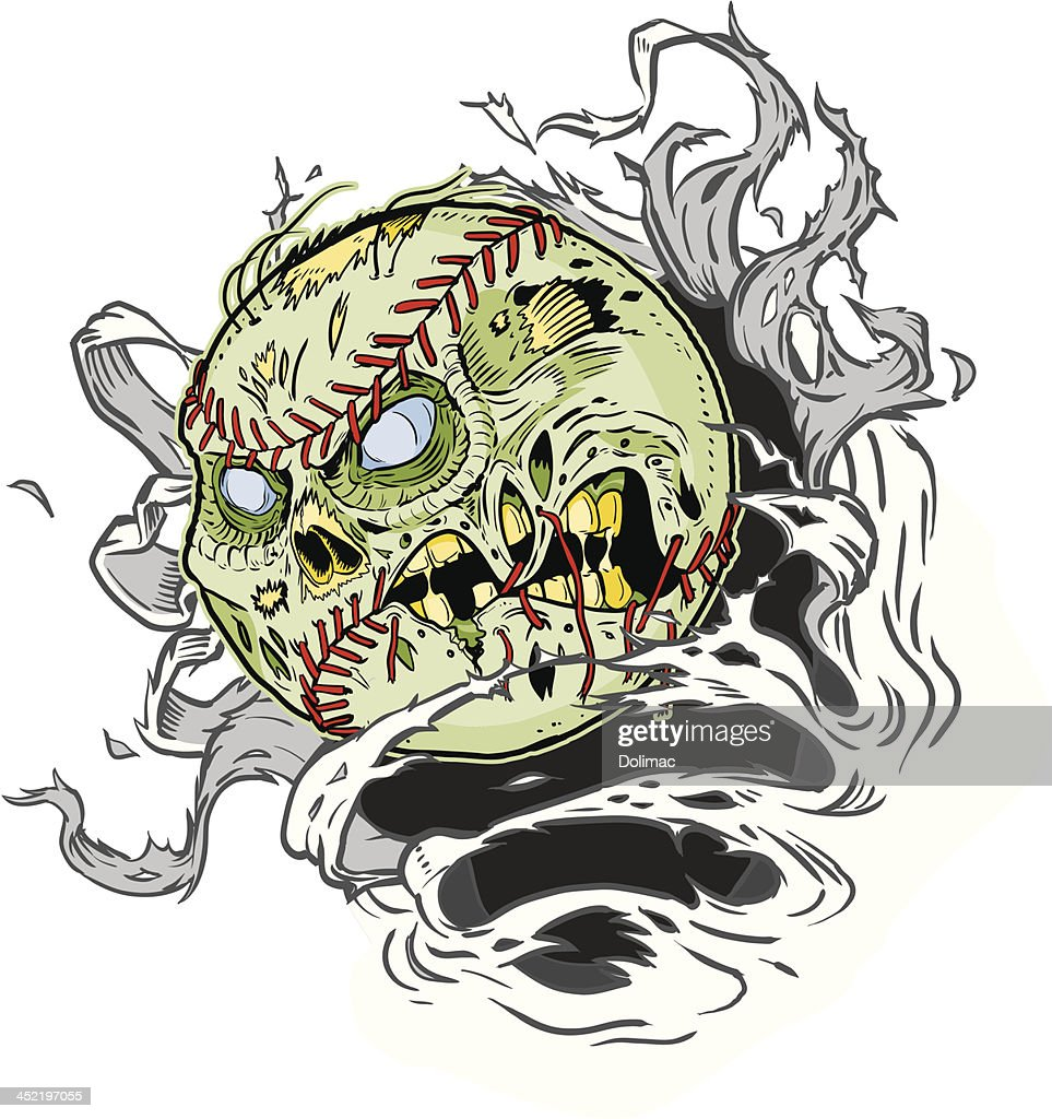 Zombie Baseball Ripping out of the Background