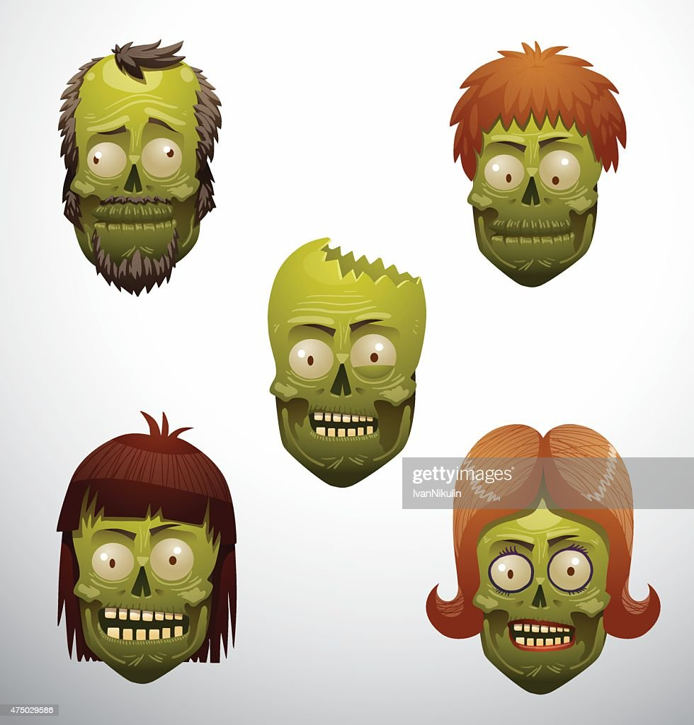 Zombie face set