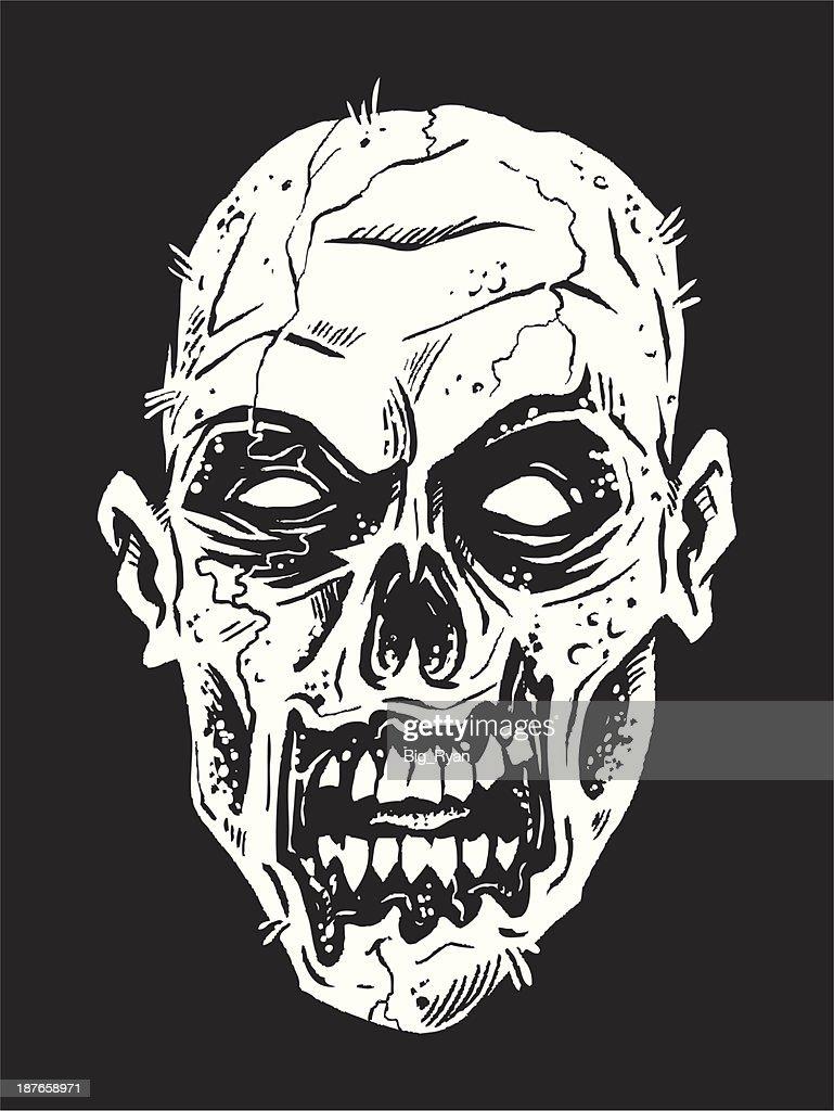 zombie face : stock illustration