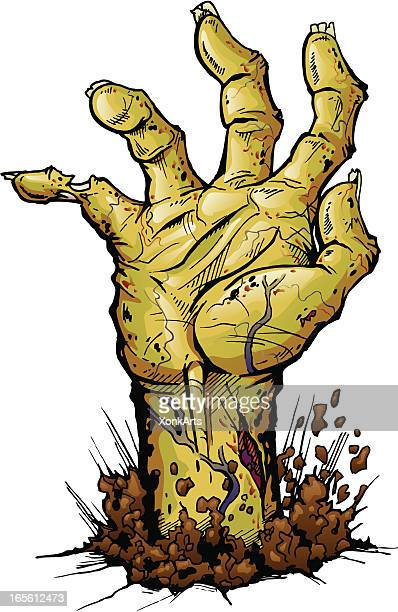 zombie hand isolated - zombie stock illustrations, clip art, cartoons, & icons