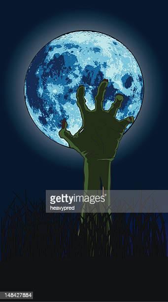 Zombie Hand Reaching Up
