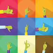 Zombie Hand Show Finger Gesture Set Collection