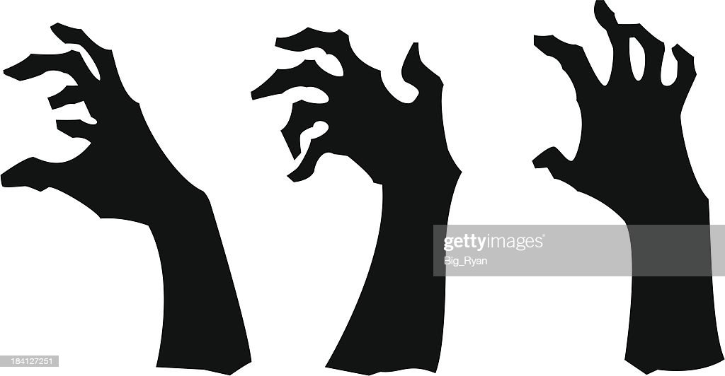 zombie hands 2 : stock illustration