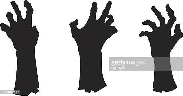 zombie hands - zombie stock illustrations, clip art, cartoons, & icons