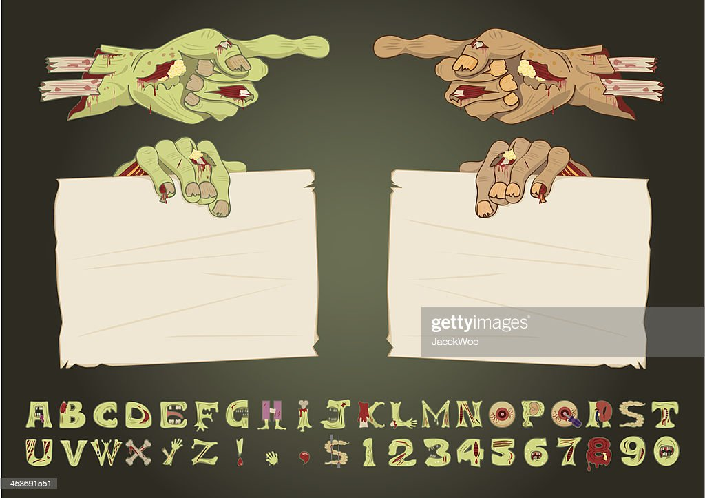 Zombie Hands : stock illustration