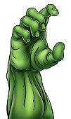 Zombie Monster Halloween Hand