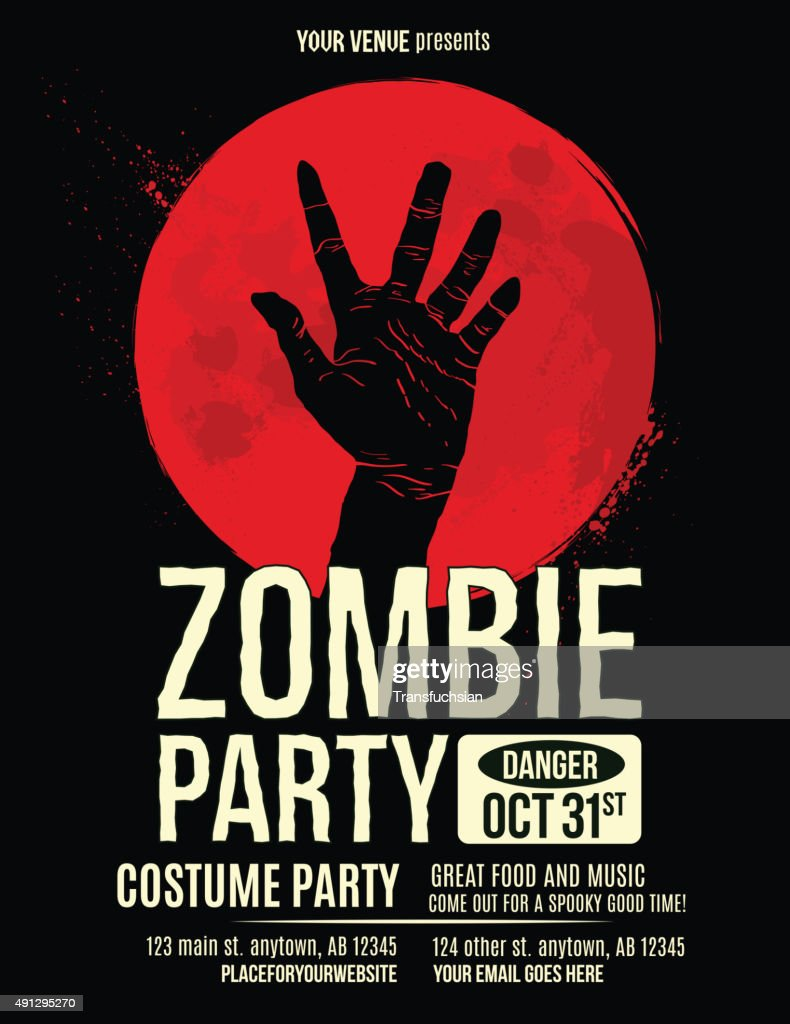 Zombie Party Halloween Invitation