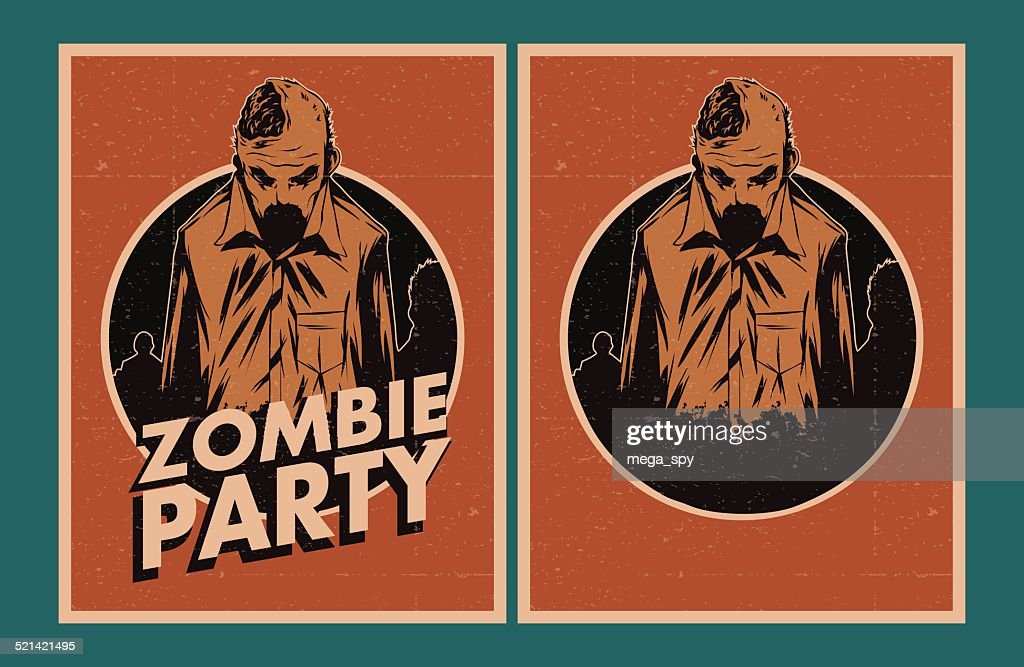 Zombie party invitation.