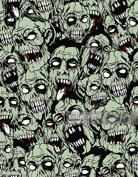 zombie repeat pattern - zombie stock illustrations, clip art, cartoons, & icons