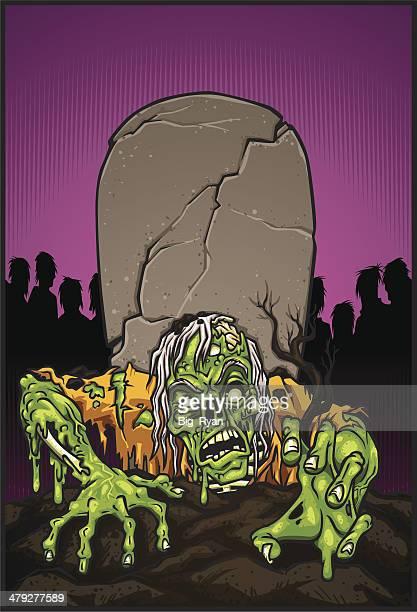 zombie rising - slimy stock illustrations, clip art, cartoons, & icons