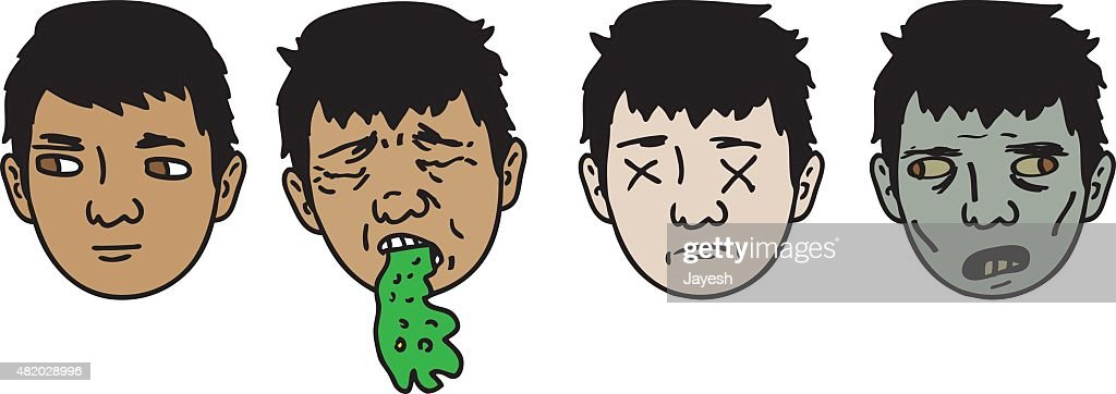 zombie transformation vector art getty images