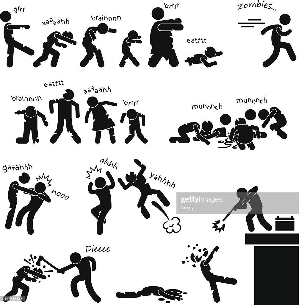 Zombie Undead Attack Apocalypse Pictogram