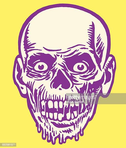 ilustraciones, imágenes clip art, dibujos animados e iconos de stock de zombi - monstruo