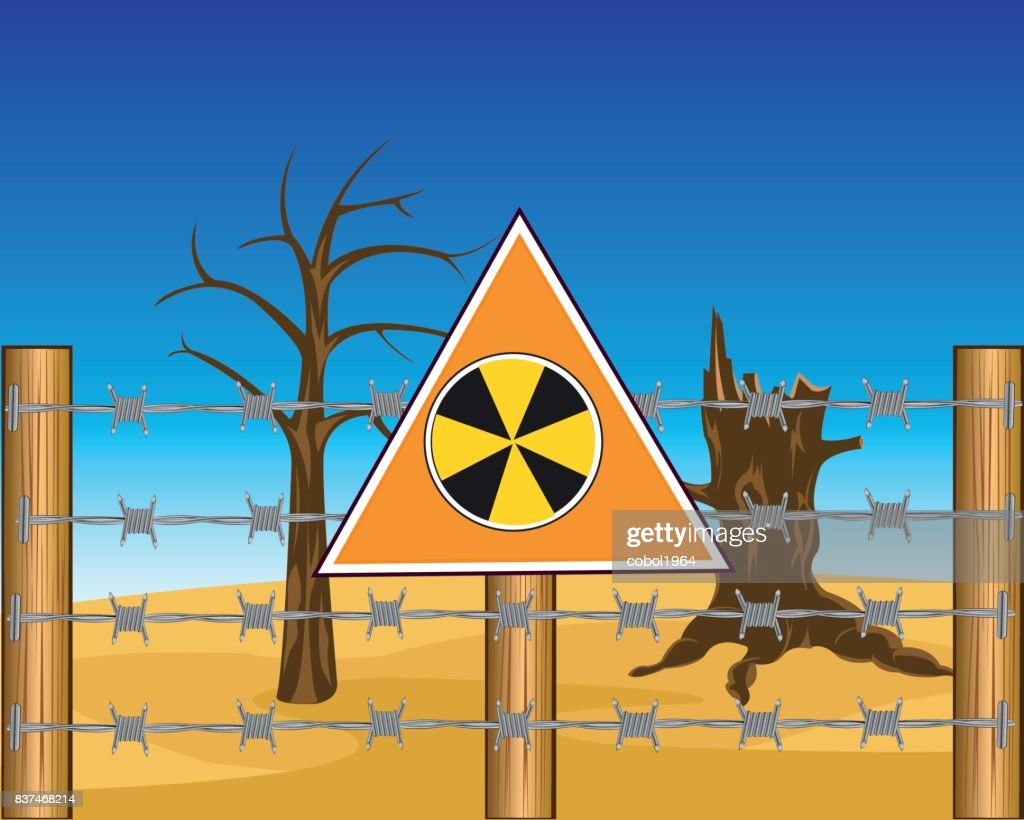 Zone to radioactive danger