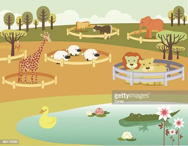 動物園のイラスト素材と絵