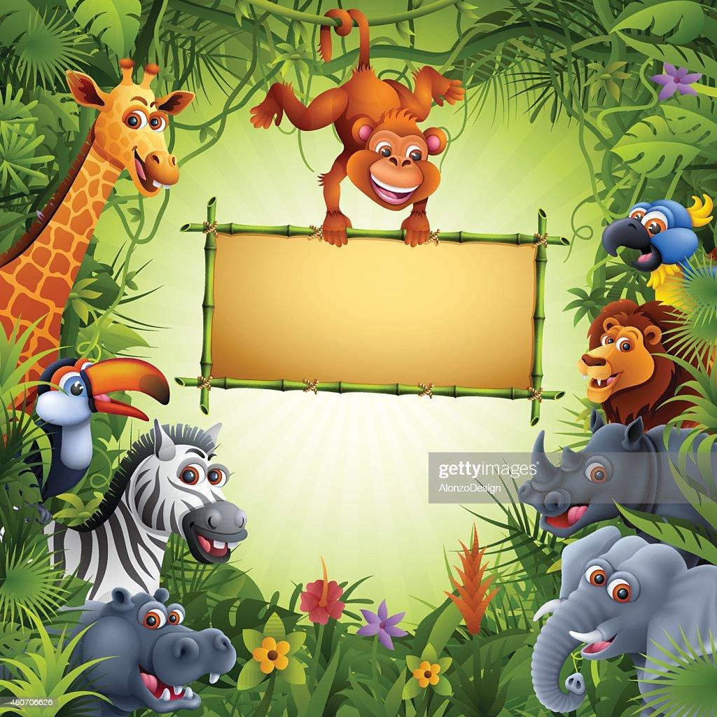 Zoo Animals : stock illustration