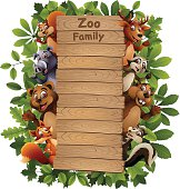 Zoo Family Cartoon
