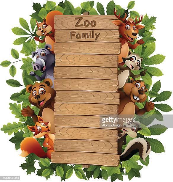 Zoo Family Cartoon