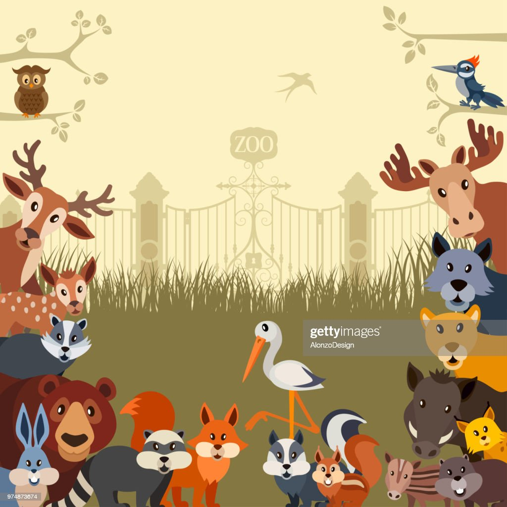 Zoo Invitation Vector Art Getty Images