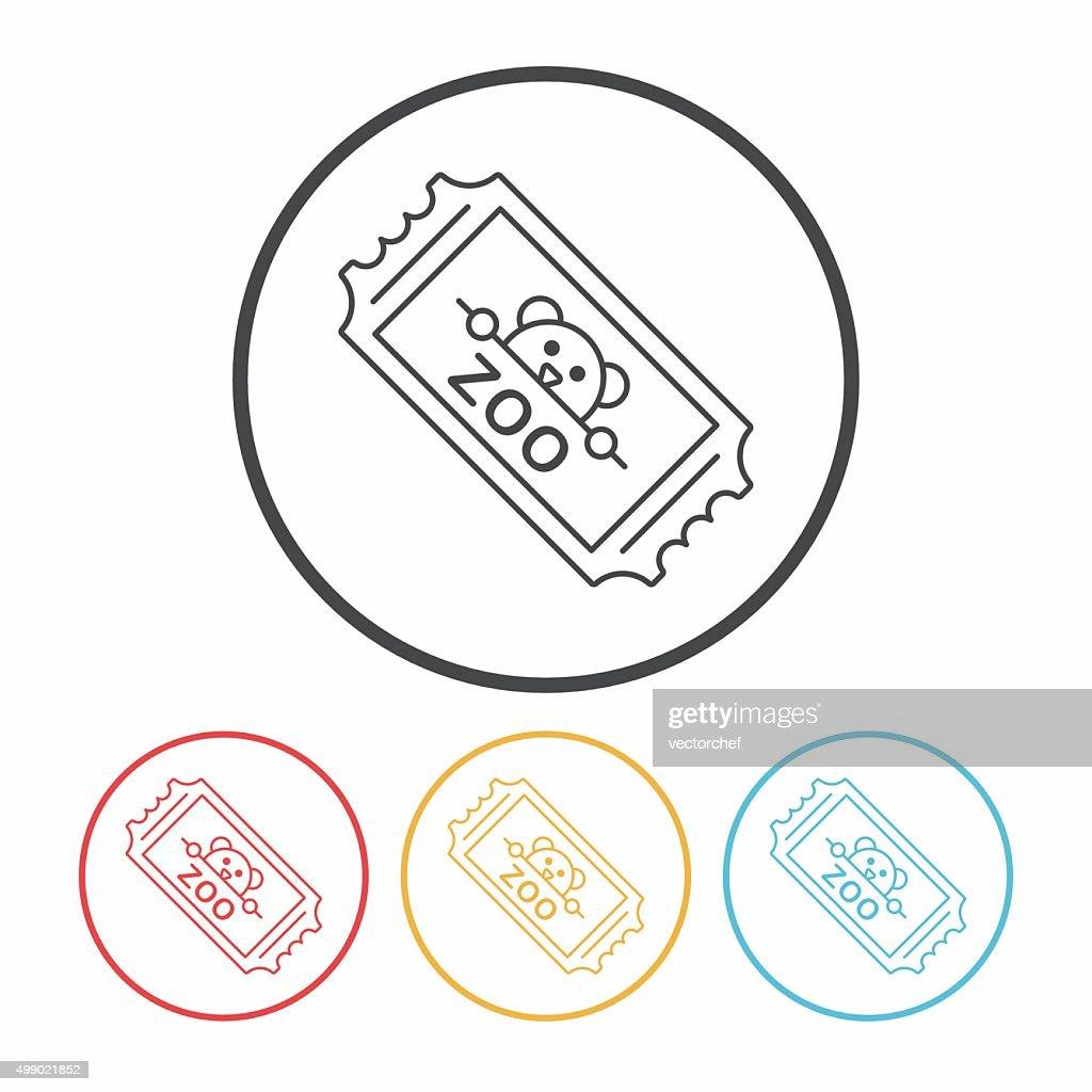 zoo ticket line icon