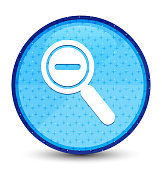 Zoom out icon galaxy cyan blue round button
