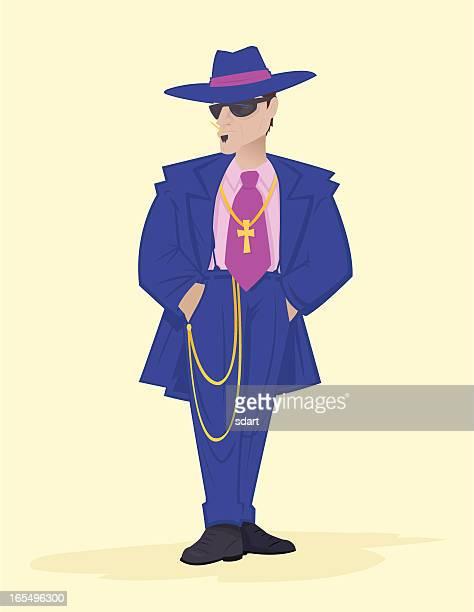 ズートスーツ - ズートスーツ点のイラスト素材/クリップアート素材/マンガ素材/アイコン素材