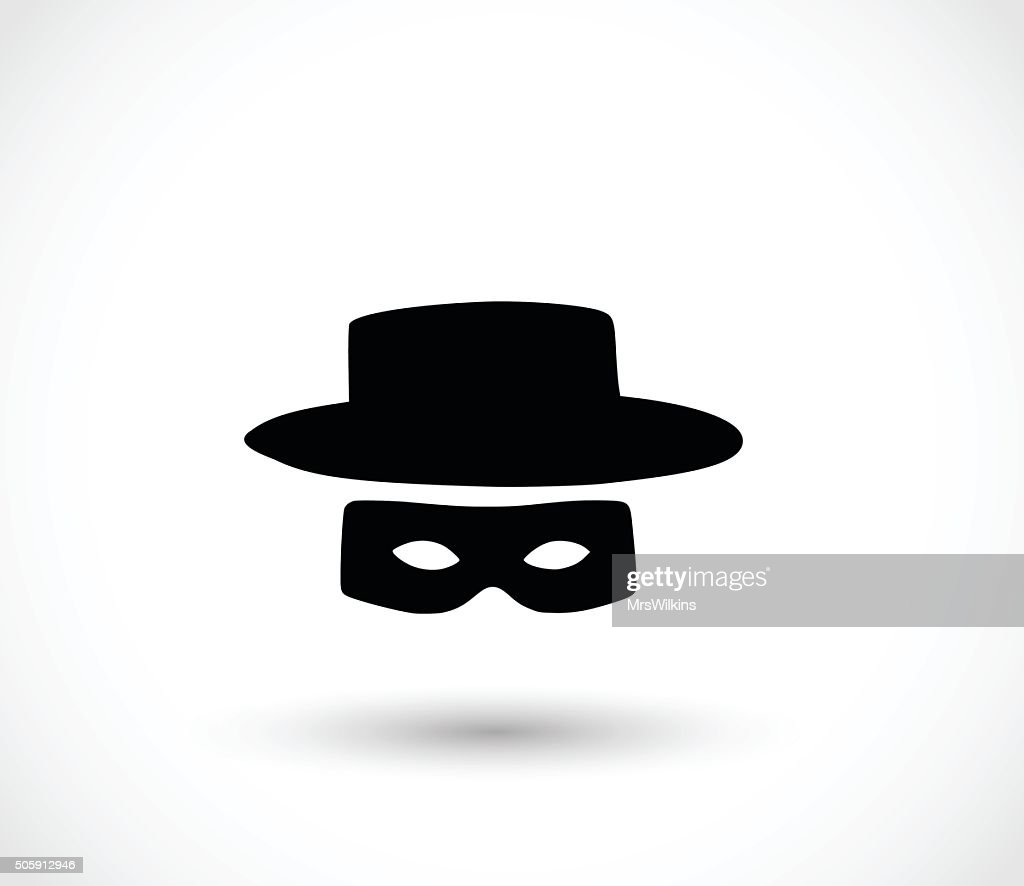 Zorro mask icon vector illustration