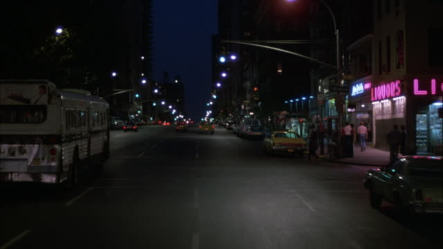 process plate front pov of new york downtown area. streets lined with cars. traffic consists mainly of buses and taxis. drive for several blocks, occasionally stopping at signals and behind stopped cars.preview file has been trimmed from master clip 6022- - 1982 stock videos & royalty-free footage