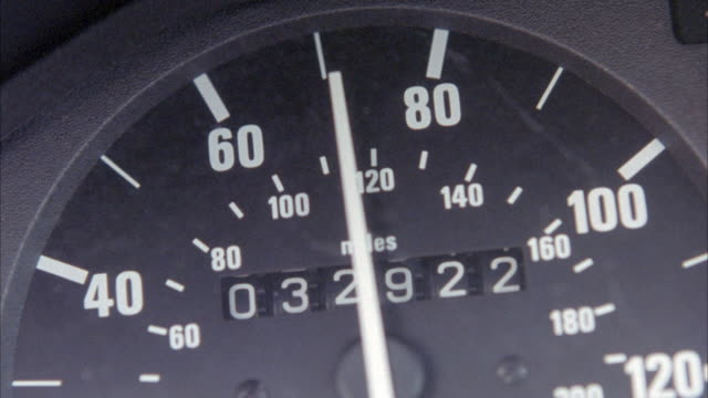 close angle of car speedometer. speed fluctuates from sixty to one hundred miles per hour. insert. - speedometer stock videos & royalty-free footage