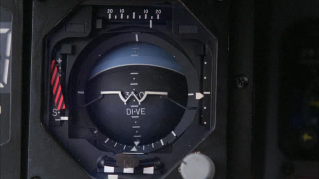 close angle of an artificial horizon changing with movement of plane. - work tool stock videos & royalty-free footage