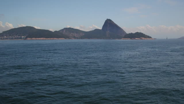 drone aerial flying over the sea of copacabana - リオデジャネイロ点の映像素材/bロール