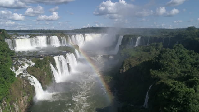 catarata do iguaçu - unesco world heritage site stock videos & royalty-free footage