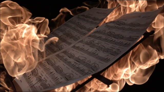 slo mo special effects musical instruments - sheet music stock videos & royalty-free footage