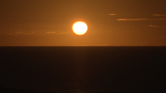 brazil - sunset at sea - sunset stock videos & royalty-free footage
