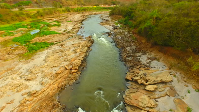 brazil - polutted river - water pollution stock videos & royalty-free footage