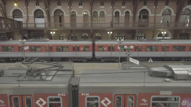 brazil - são paulo - estação da luz - train vehicle stock videos and b-roll footage